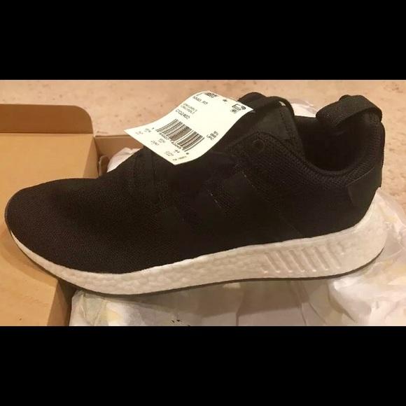 newest ec56d 178c6 Adidas NMD R2 Boost men's is size 10 black CQ2402 NWT
